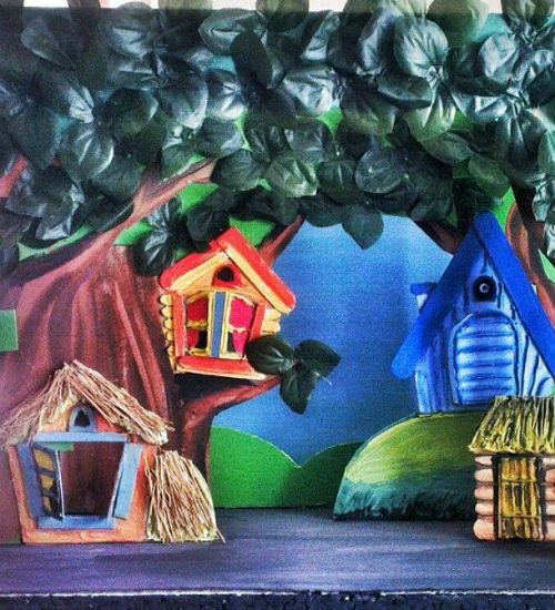 """Kukla Teatrında  """"Pişiyin evi"""" hazırlanır/MANERA.AZ"""