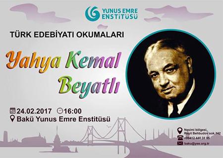 Türk şairi Yəhya Kamal müzakirə olunub  |Manera.az