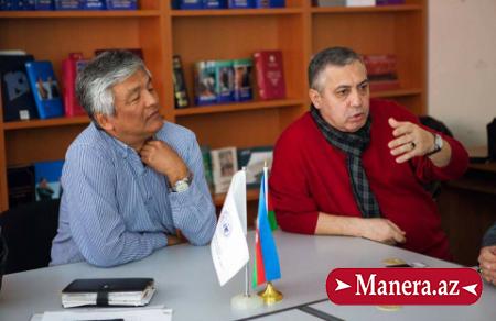 Qırğızıstan Xalq artisti ADMİU-da ustad dərsi keçib/MANERA.AZ