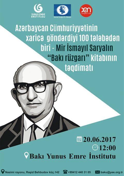 """""""Bakı Rüzgarı"""" kitabının təqdimatı keçiriləcək"""