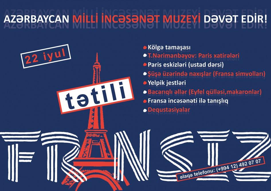 """""""Fransız tətilləri"""" Milli İncəsənət Muzeyində"""