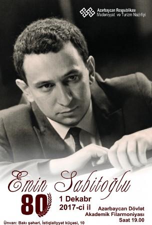 Emin Sabitoğlunun 80 illiyi qeyd ediləcək