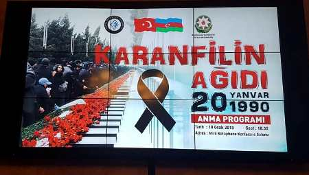 """""""20 Yanvar"""" şəhidləri Ankarada anıldı"""