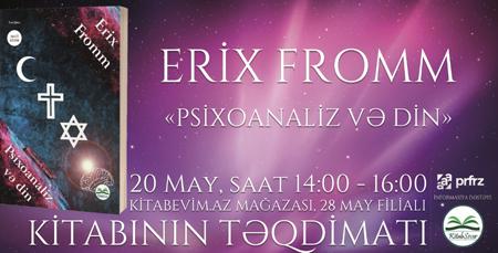 """Erix Frommun """"Psixoanaliz və din""""i Azərbaycan dilində ..."""