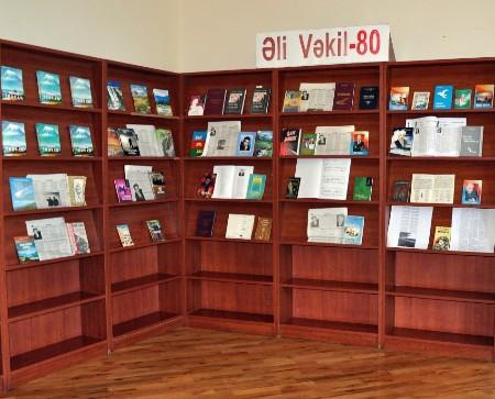 """""""Əli Vəkil-80"""" kitab sərgisi"""