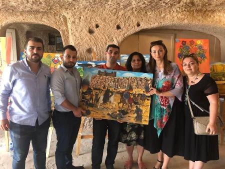 Kapadokyada azərbaycanlı rəssamların sərgisi