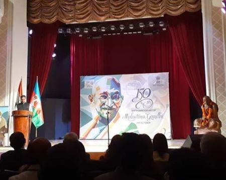 Mahatma Qandinin 150 illiyi Bakıda qeyd edilib