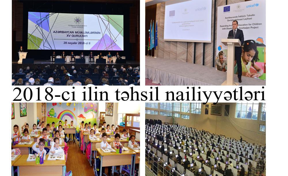 2018-ci ilin təhsil nailiyyətləri - SİYAHI