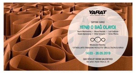 """""""YARAT"""" səyyar sərgisi Qaxda"""