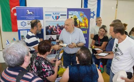 İsraildə Azərbaycan Xalq yazıçısı ilə görüş