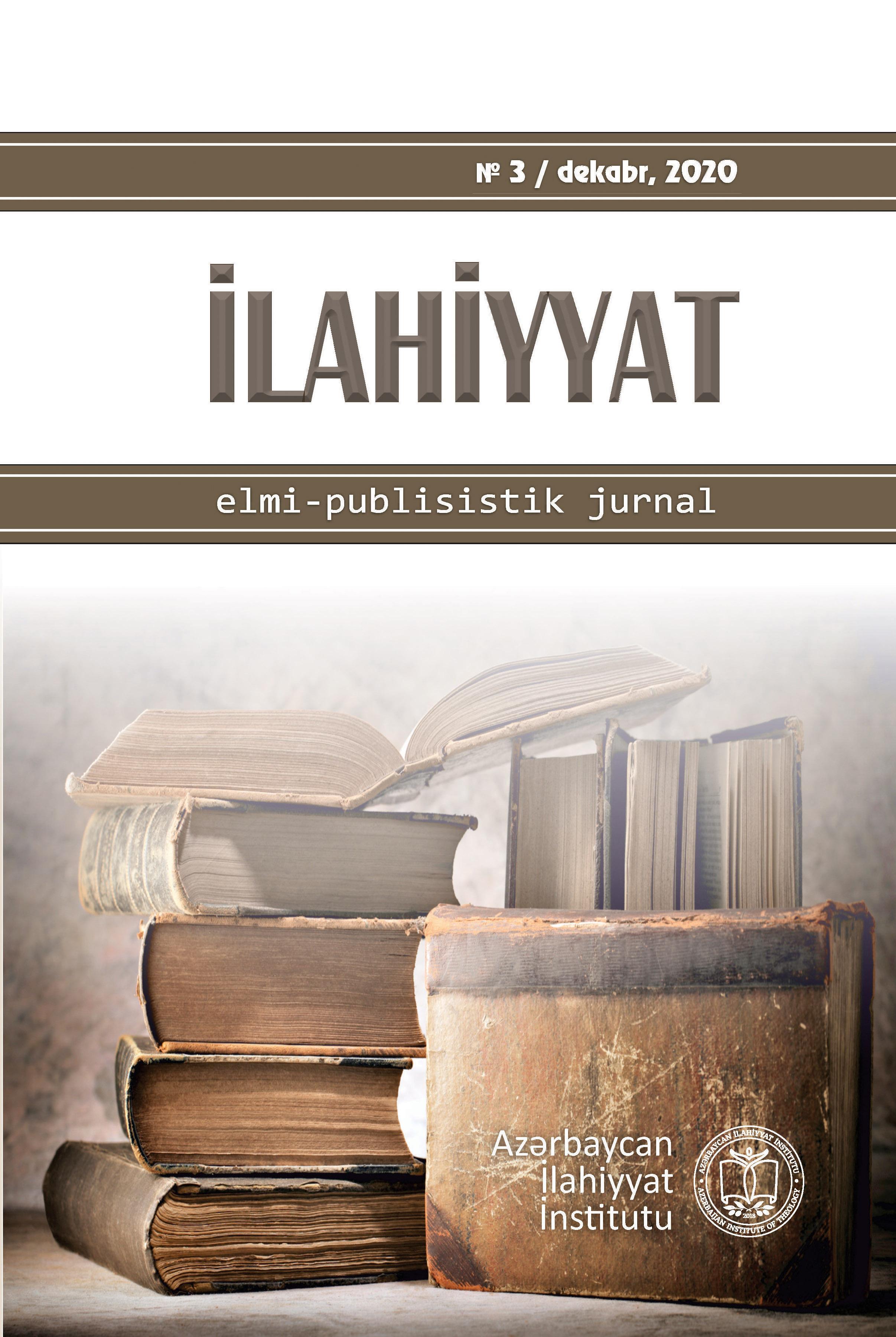 """""""İlahiyyat"""" elmi-publisistik jurnalının növbəti sayı"""