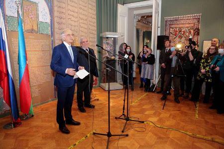 Moskvada Nizami sərgisi açılıb - Fotolar