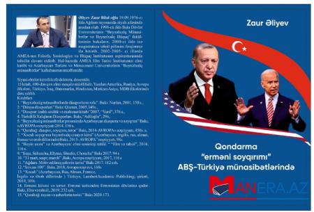 """Qondarma """"erməni soyqırımını"""" ifşa edən kitab nəşr edilib"""
